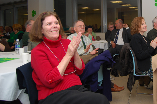 Member Elizabeth Heinze and others enjoy the event. (Cara Metz)