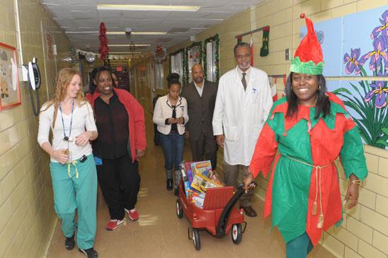 Aft Black Caucus Visits Harlem Hospital Center United