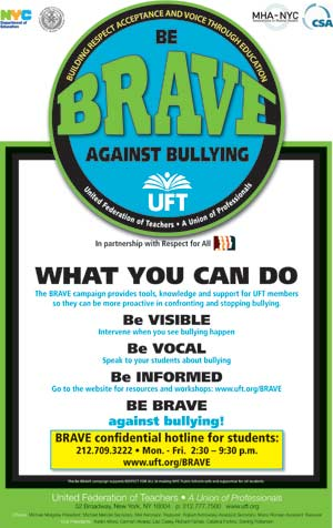 Be BRAVE Campaign Poster