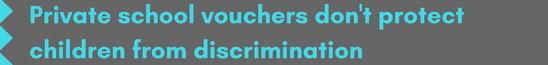 Vouchers - discrimination