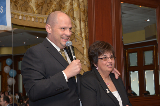 UFT President Michael Mulgrew and District 24 Representative Rosemary Parker. (Miller Photography)