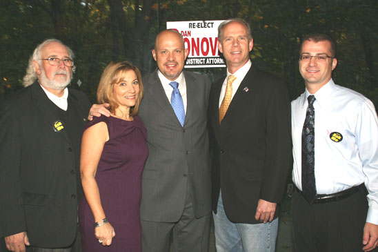 Donovan (second from right) with (from left) Pietromonaco, Staten Island Politic