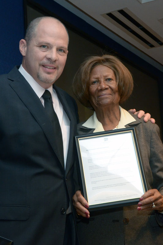 UFT President Michael Mulgrew with Hazel Dukes, the president of the New York St