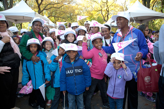 Home child care provider Joan Jawahir (right) with her Girl Scout Troop 2353 in Central Park.