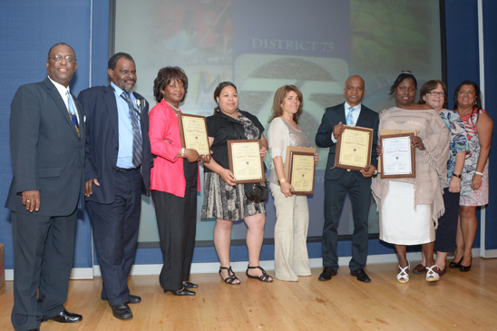 Five educators honored