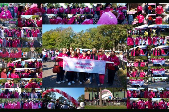About 30 members of the staff walked on sunday october 17th with the
