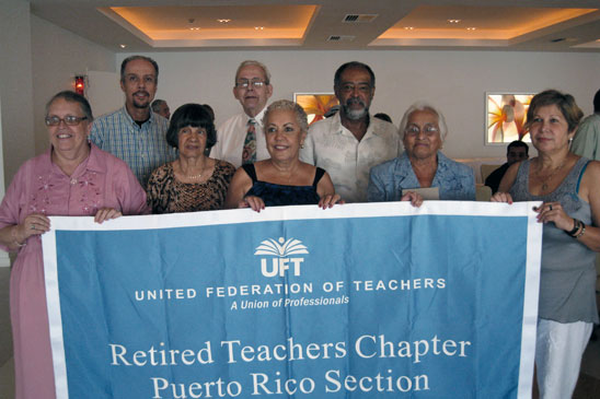 Greetings from puerto rico united federation of teachers rtcers in puerto rico turned out in force for their annual breakfast on may 16 m4hsunfo