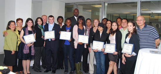 Health career students honored by union
