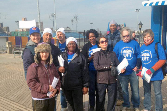 Day of Action in Coney Island.