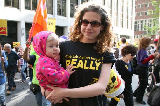 Rosa Haire, daughter of a UFT nurse. (Pat Arnow)