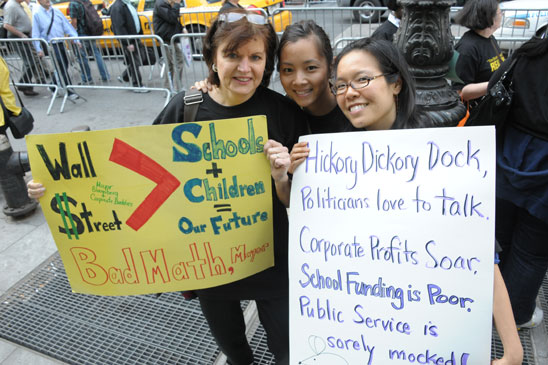 Barbara McClung, Janis Bui and Donna Chin from PS/MS 184 in Manhattan. (Miller Photography)