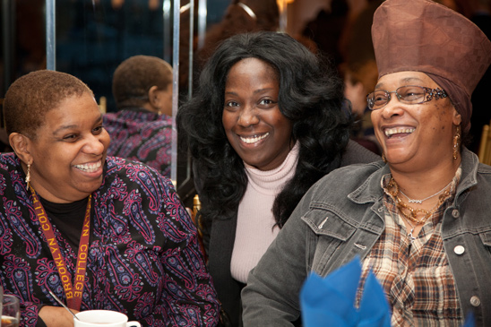 Jossie Dunham Espinal, Evelyn Jemmott-Jackson and Florine Love-Carvey, all from IS 166 in East New York. (Pat Arnow)