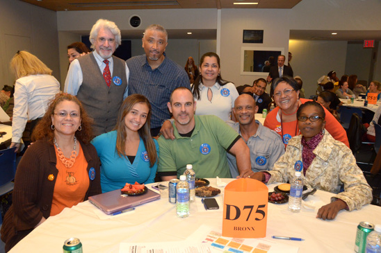 District 75 members from the Bronx's P 12 and P 75. (Miller Photography)