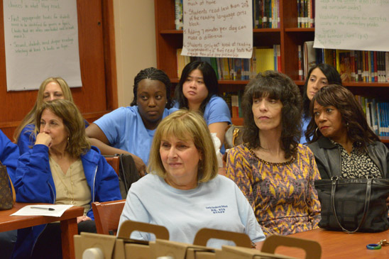 Educators listen to the news from around the union, city and nation. (Miller Photography)