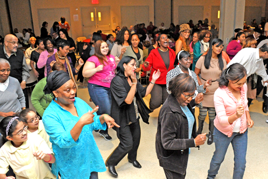 Bronx SRPs doing the electric slide. (Miller Photography)