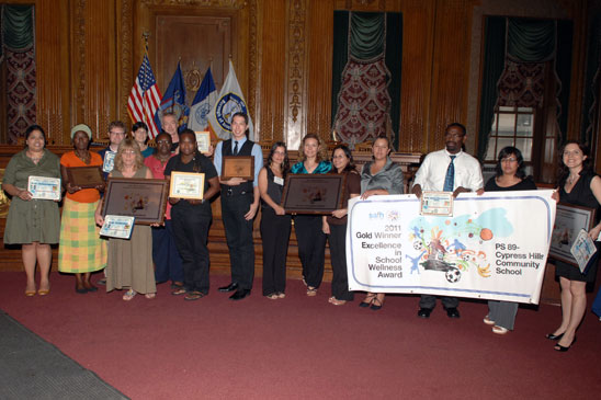 Brooklyn winners of Excellence in School Wellness awards.