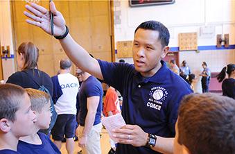 Ps 214 physical education teacher ed acampado calls out instructions