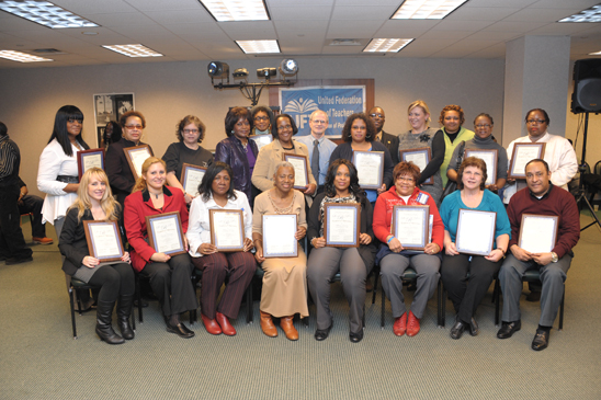 School-related personnel who received certifications of appreciation (Miller Photography)