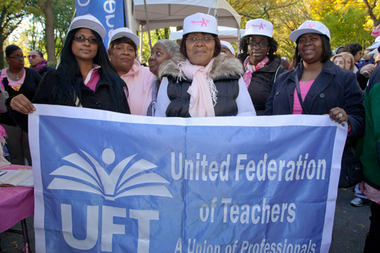 UFT Family Child Care Providers at the Making Strides Walk in Central Park. (Pat Arnow)