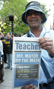 Michael Maragh, whose wife Paulette is a teacher at PS 116 in Queens.