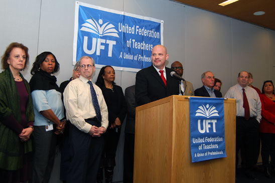 UFT President Michael Mulgrew discusses the union's decision to go to PERB to tr
