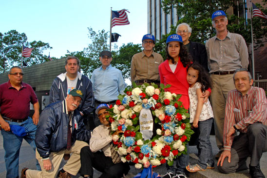 UFT Veterans Committee members with the wreath.