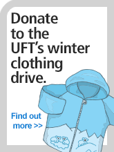 Winter clothing drive sidebar promo graphic