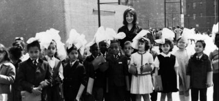 Sandra Feldman with her 4th-grade class at PS 34 in Manhattan, 1965