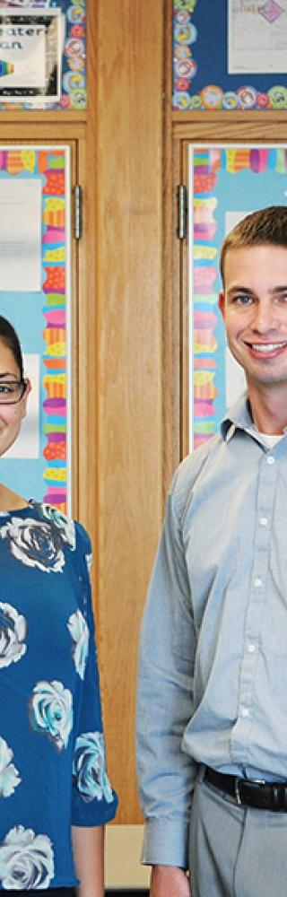 Special education teacher Jessica Romano and general education teacher Robert D'