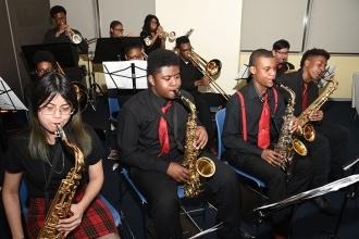 The Brooklyn HS of the Arts Jazz Ensemble, under the direction of John Scandone,