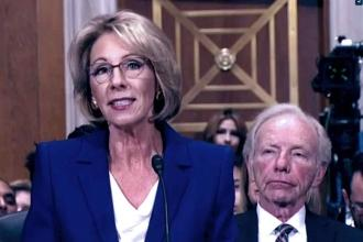 Betsey DeVos with Joe Lieberman
