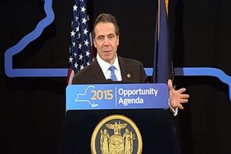 Gov. Andrew Cuomo delivers his State of the State address.