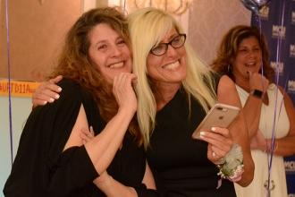 Judy Hall Chapter Leader Award winner Christine O'Callaghan (right) of PS 106 ce