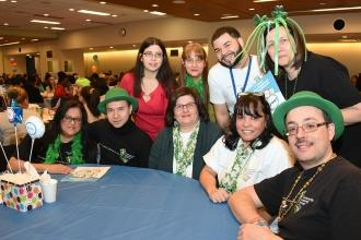 Educators from PS 196 in Brooklyn came decked out in green to honor St. Patrick'