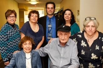 Chairperson Demetra Savopolis (back row, right) and historical consultant and co