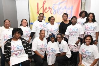 Bronx paraprofessionals add their voices to the story circle at HERstory, honori
