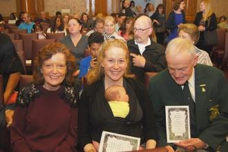 Maureen O'Lunney (center), the daughter of Irish Man of the Year Hugh O'Lunney,