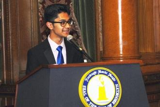 Student Md Sayem Hossain of the Manhattan Center for Science and Mathematics HS