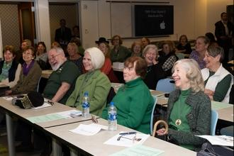 Members, decked out in green, enjoy traditional Irish food, live entertainment and engaging speakers at the UFT's Irish American Committee's annual heritage celebration at UFT headquarters on March 21.