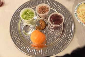 The traditional Seder plate this year included an orange to symbolize gender equ