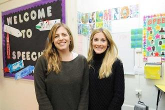 Lorge School speech language pathologists Petra Cramer (left) and Allison Bier.