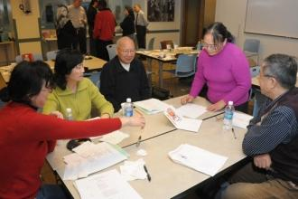Manhattan lab specialists work together during a UFT training session.