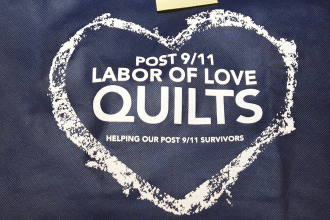 Quilt with words post 9/11 Labor of Love Quilts