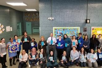 4-	PS 1 Brooklyn wears blue for autism awareness.