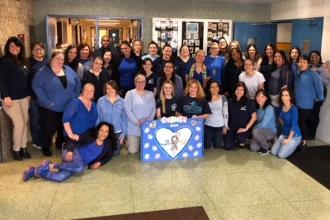 10-	Pre-k Z075 Brooklyn goes blue for autism.