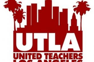 The logo for the United Teachers of Los Angeles