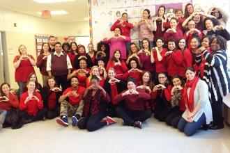 Lots of love at PS 50 in Jamaica, Queens.