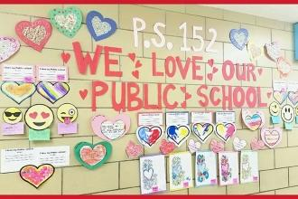 Love from PS 152 in Flatbush, Brooklyn.