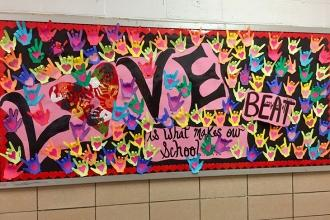Love makes the school beat at PS 135 in Queens Village.