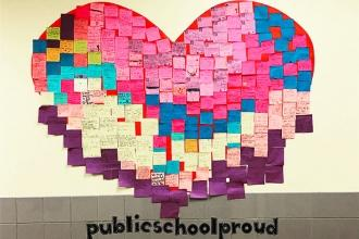 A display of love at PS 204 in the Bronx.